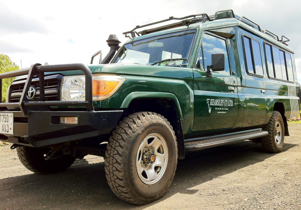 4×4 Land Cruiser Safari Vehicles | Kearsleys Travel & Tours