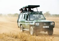 kearsley safari vehicle on road